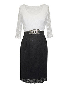 Black Beauty Lace Dress by Alex Evenings