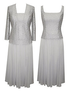 Silver Sensation Evening Dress by Alex Evenings
