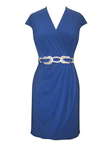 Royal Matte Jersey Dress by Alex Evenings