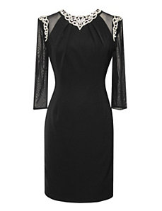 Luxe Crepe Dress by Alex Evenings