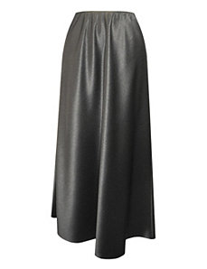 Black Satin Skirt by Alex Evenings