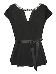 Black Stunning Top by Alex Evenings