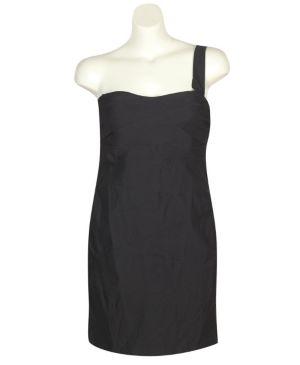 Black One Shoulder Party Dress