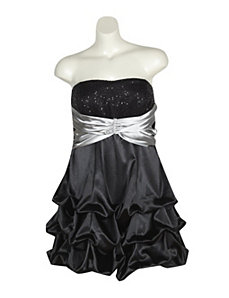 Black And Silver Party Dress by Ruby Rox