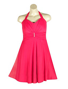 Chiffon Halter Dress by Ruby Rox