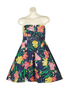 Floral Belted Dress by Ruby Rox