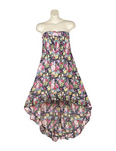 Floral Hi Low Print Dress by Ruby Rox