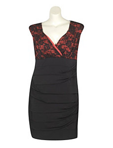 Black Lace Trim Dress by Ruby Rox