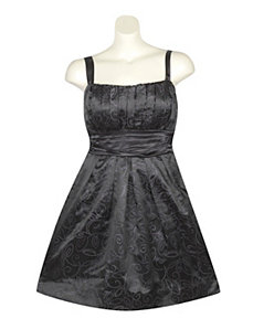 Black Silver Party Dress by Ruby Rox