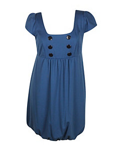 Blue Buttons Dress by Ruby Nights Rox