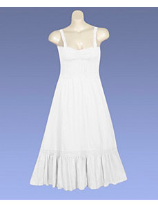 White Gimme Gauze Dress by Mlle Gabrielle