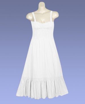 White Gimme Gauze Dress