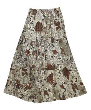 Multi Color Print Skirt