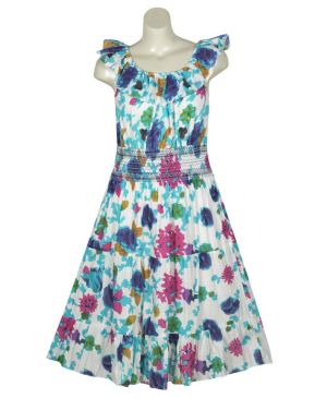 Sea Of Flowers Floral Dress