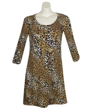 Animal Attack Print Dress