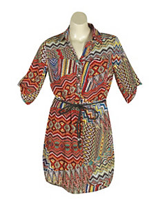 Exotic Print Dress by Mlle Gabrielle