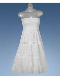 White Wash Maxi Dress by Mlle Gabrielle