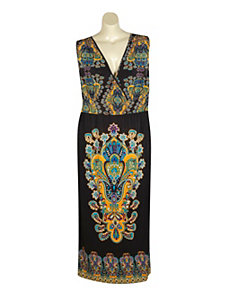 Chicago Scarf Maxi Dress by Mlle Gabrielle