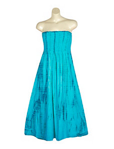 Blue Tie Dye Maxi Dress by Mlle Gabrielle