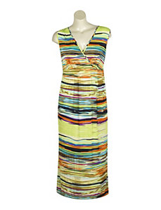 Bright Stripes Maxi Dress by Mlle Gabrielle