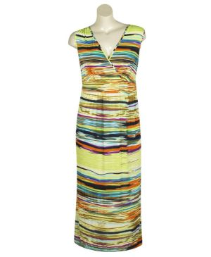 Bright Stripes Maxi Dress