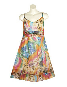 Chiffon Print Dress by Mlle Gabrielle