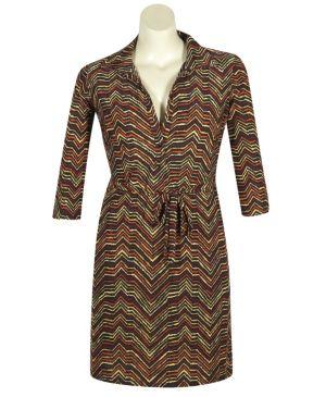 Michigan Print Dress