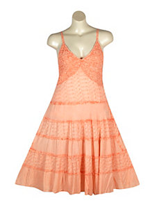 Coral Country Dress by Mlle Gabrielle