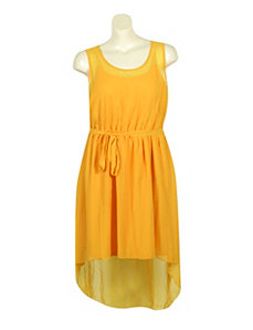 Yellow Hi Low Chiffon Dress by Mlle Gabrielle