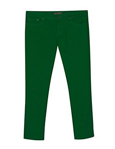 Five Pocket Green Colored Jeans by Exocet