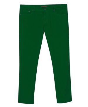 Five Pocket Green Colored Jeans
