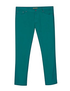 Five Pocket Sea Green Colored Jeans by Exocet