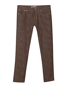 Brown Animal Print Jeans by Exocet