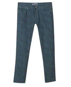 Blue Animal Print Jeans