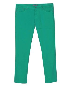 Five Pocket Jade Colored Jeans