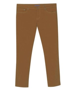 Five Pocket Rust Colored Jeans