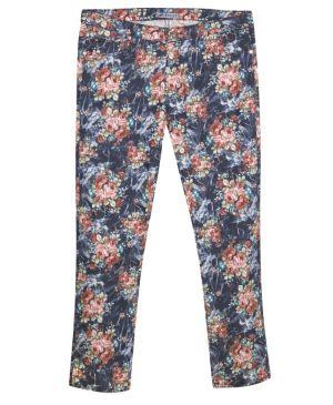 Blue Floral Jean