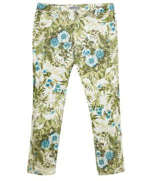 Green Floral Jean