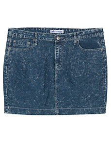 Short Distressed Denim Skirt by Exocet