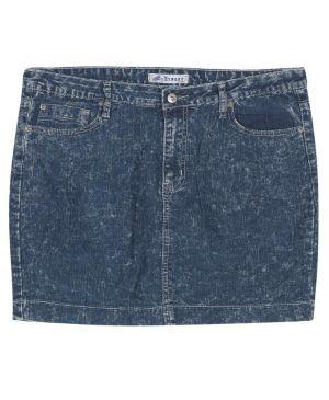Short Distressed Denim Skirt