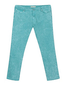 Distressed Teal Jean by Exocet
