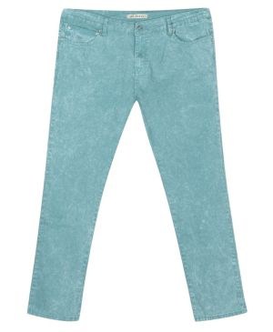 Distressed Teal Jean