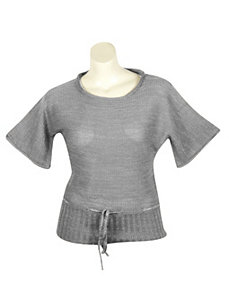 Silver Metallic Sweater by Yoki