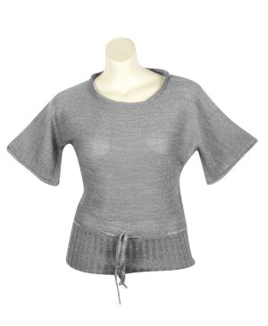 Silver Metallic Sweater