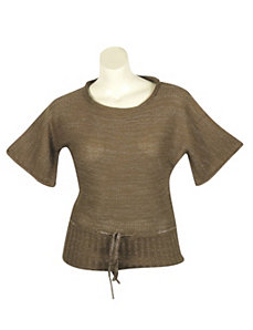 Gold Metallic Sweater by Yoki