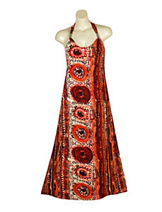 Red Russian Maxi Dress by Apollo