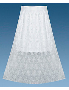 White Lace Skirt by Apollo