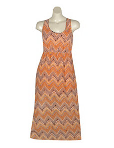 Orange Print Maxi Dress by Apollo