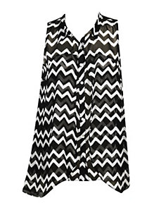 Chevron Flyaway Top by Apollo