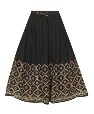 Black Sunset Skirt